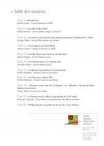 Table des matières - Les plantes du Grand Siècle