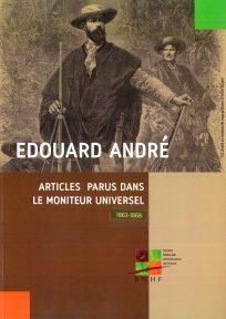 couv_ Edouard André, articles parus dans le moniteur universel