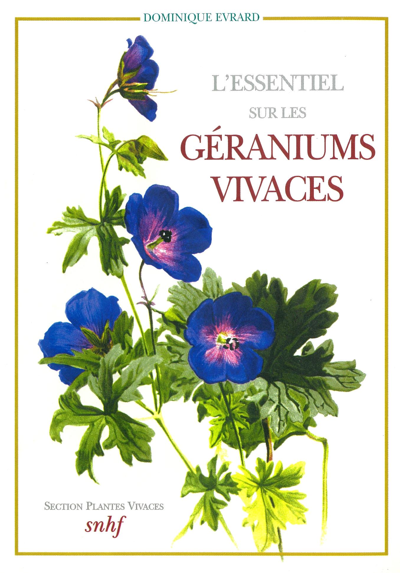 L 39 essentiel sur les g raniums vivaces boutique snhf - Quand rentrer les geraniums ...